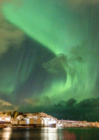 Northern Lights over Hamnoy Harbor (No. 4347)